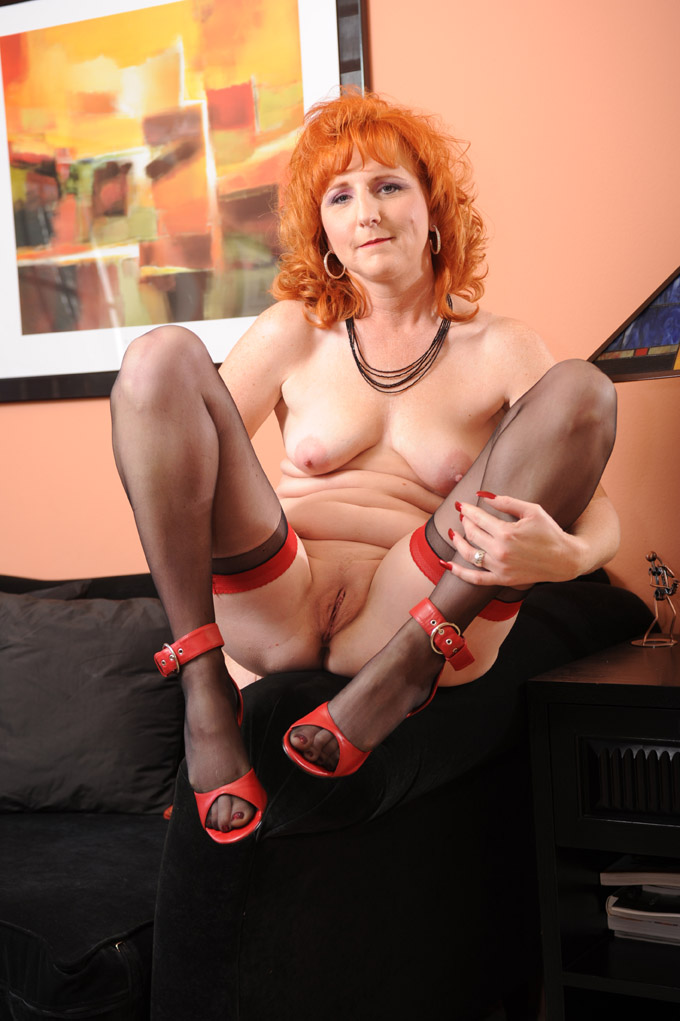Next up is a horny mature redhead slut, Sasha!