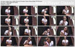 Brat Princess 2: Sasha Foxx - Bratty School Girl Handjob Tease of Bound Male (720 HD)