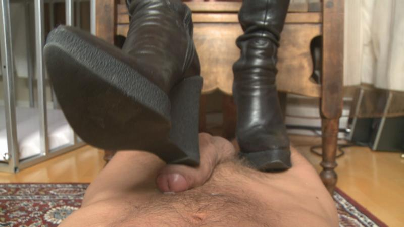 High Heels Shoe Job Paraph51 - Black Boots Bootjob_cover,