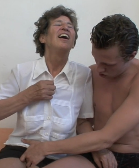Hairy older granny anal porn