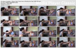 Brat Princess 2: Amadahy - Shows Virgin Friend how to Worship Her Feet (1080 HD)