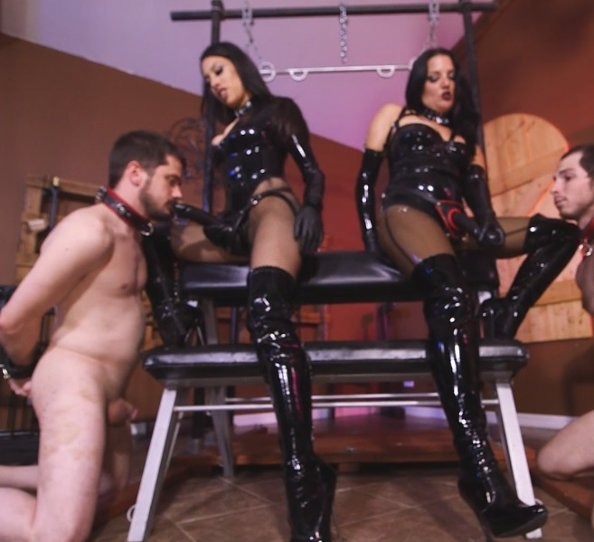 Michelle and Tangent's Auction Slave 5: Strap-on