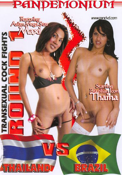 Transexual Cock Fights Round 1 - Thailand VS Brazil (2007)