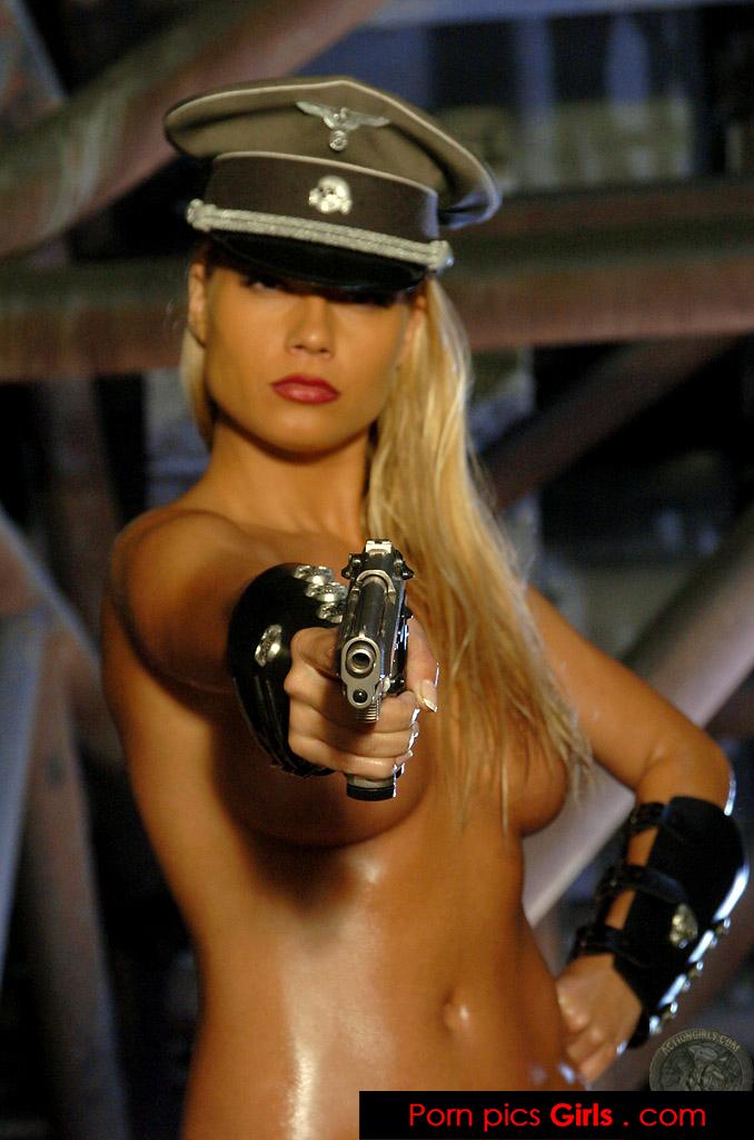 With guns girls naked