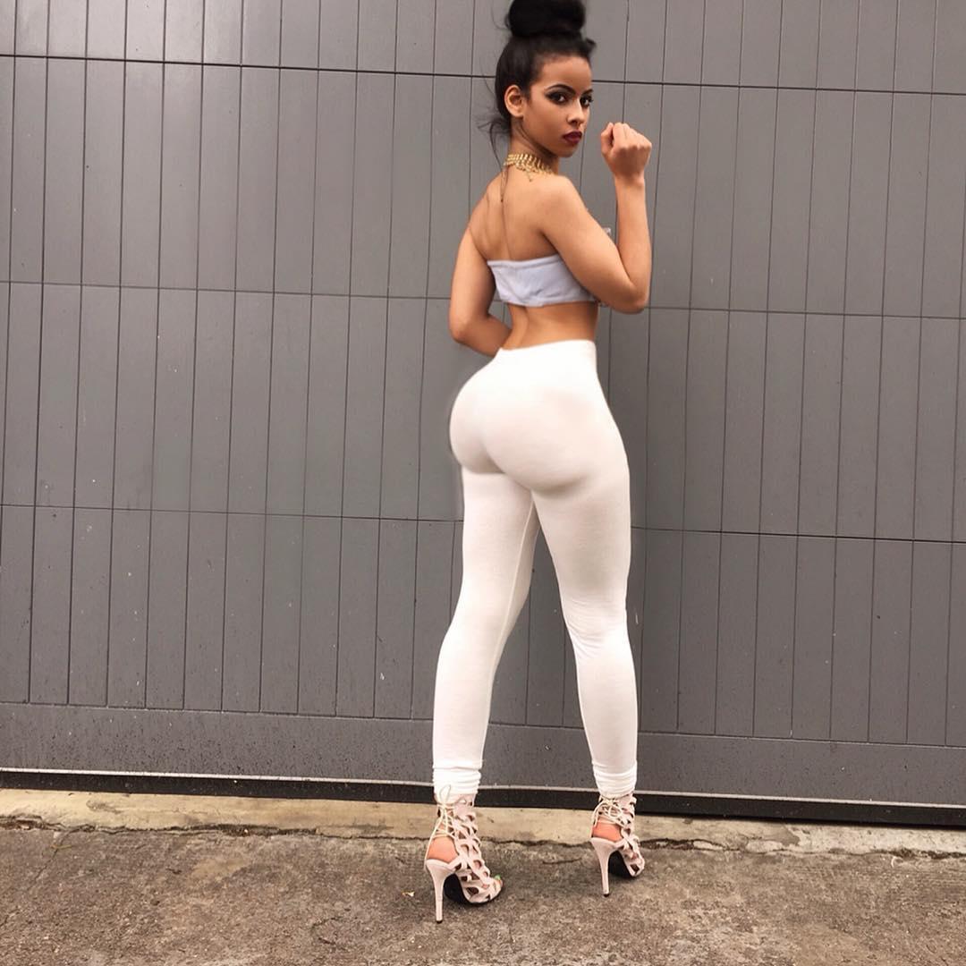 Latex pants big black ass