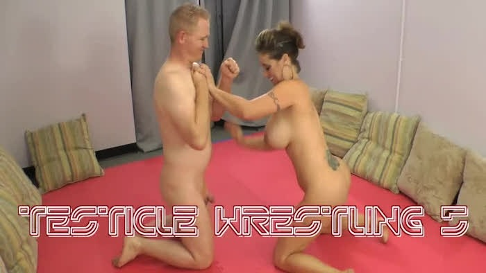 testicles Nude wrestling