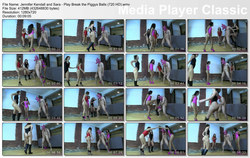 Brat Princess 2: Jennifer Kendall and Sara - Play Break the Piggys Balls (720 HD)
