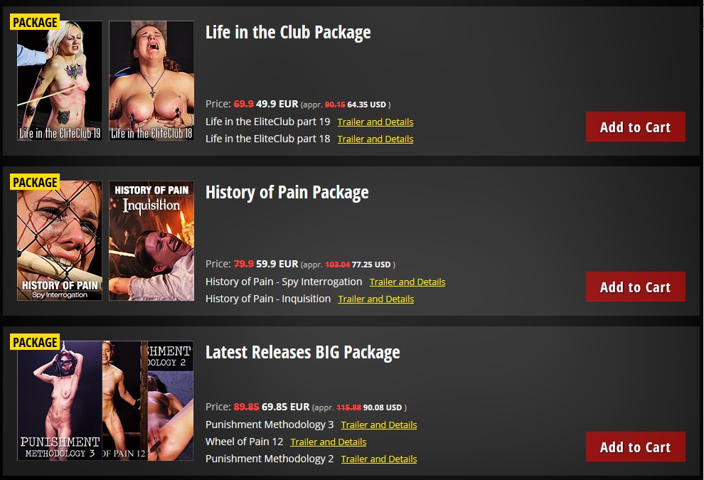 ElitePain.com - 65 Videos - 33 Gb + UPDATE 2016