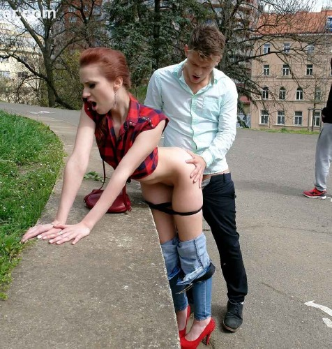 Sex fully public clothed in