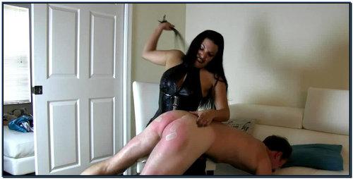A Violent Belt Whipping Female Domination