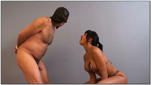 Boxing My Chubby Slave Balls Female Domination
