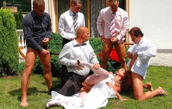 Bride gangbang video