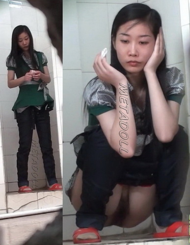Chinese girl in toilet
