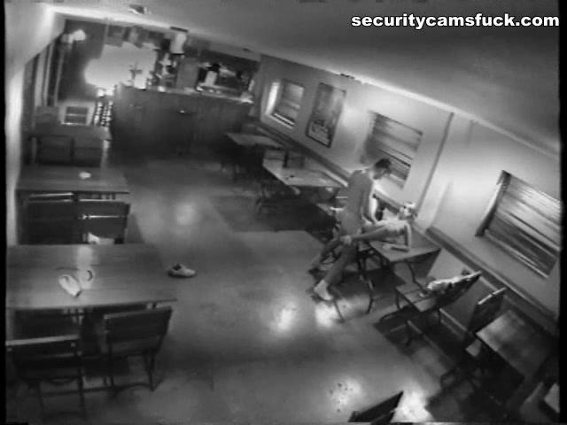 Security camera blowjob