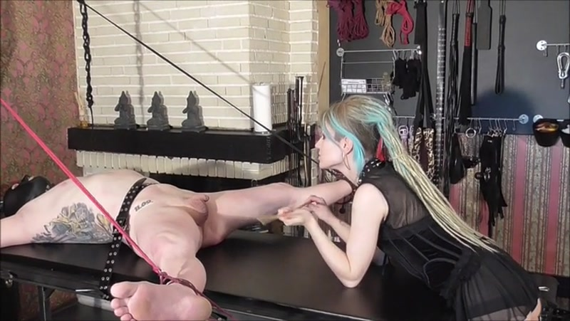 Wife forces husband lick cum
