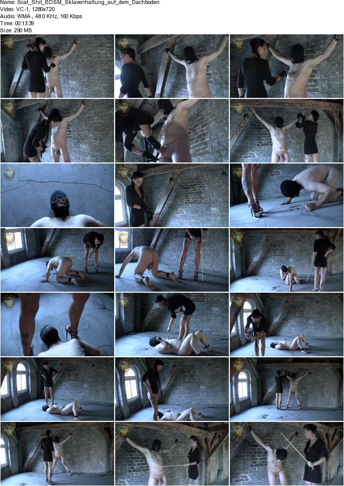 Scat Shit BDSM Sklavenhaltung auf dem Dachboden