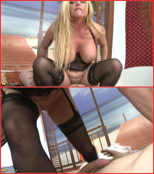 Constanza (47) MILF, Blonde, Big Tits, Big Ass, Shaved Pussy, Stockings, Hardcore, POV, Fingering, Oral, Ball Licking, Cum In Mouth