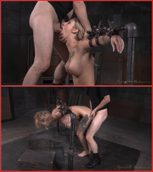 Toned and tattooed Kleio Valentien belt bound and destroyed with drooling deepthroat and rough sex! Kleio Valentien, Matt Williams, Maestro 2015 BDSM, Bondage, Domination, Hardcore, All sex