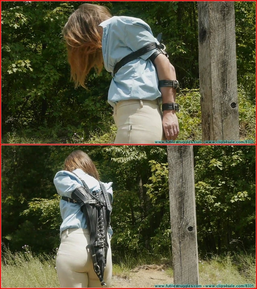 The Vigilante Turns His Attention Towards Rachel Outdoor Leather Bondage Part 1
