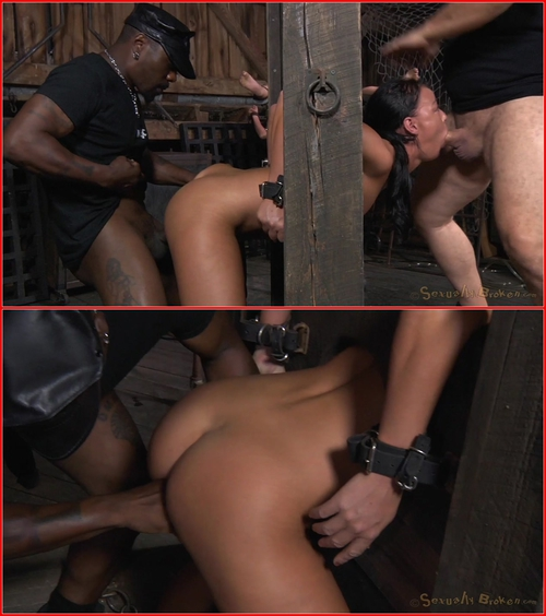 London River, Darling (Two well used barn sluts restrained in strict bondage, epic London River and Darling tag team! 21.08.2015) BDSM, Bondage, Blowjob, Big Dick, Big Tits, Black Cock, Deep Throat, IR