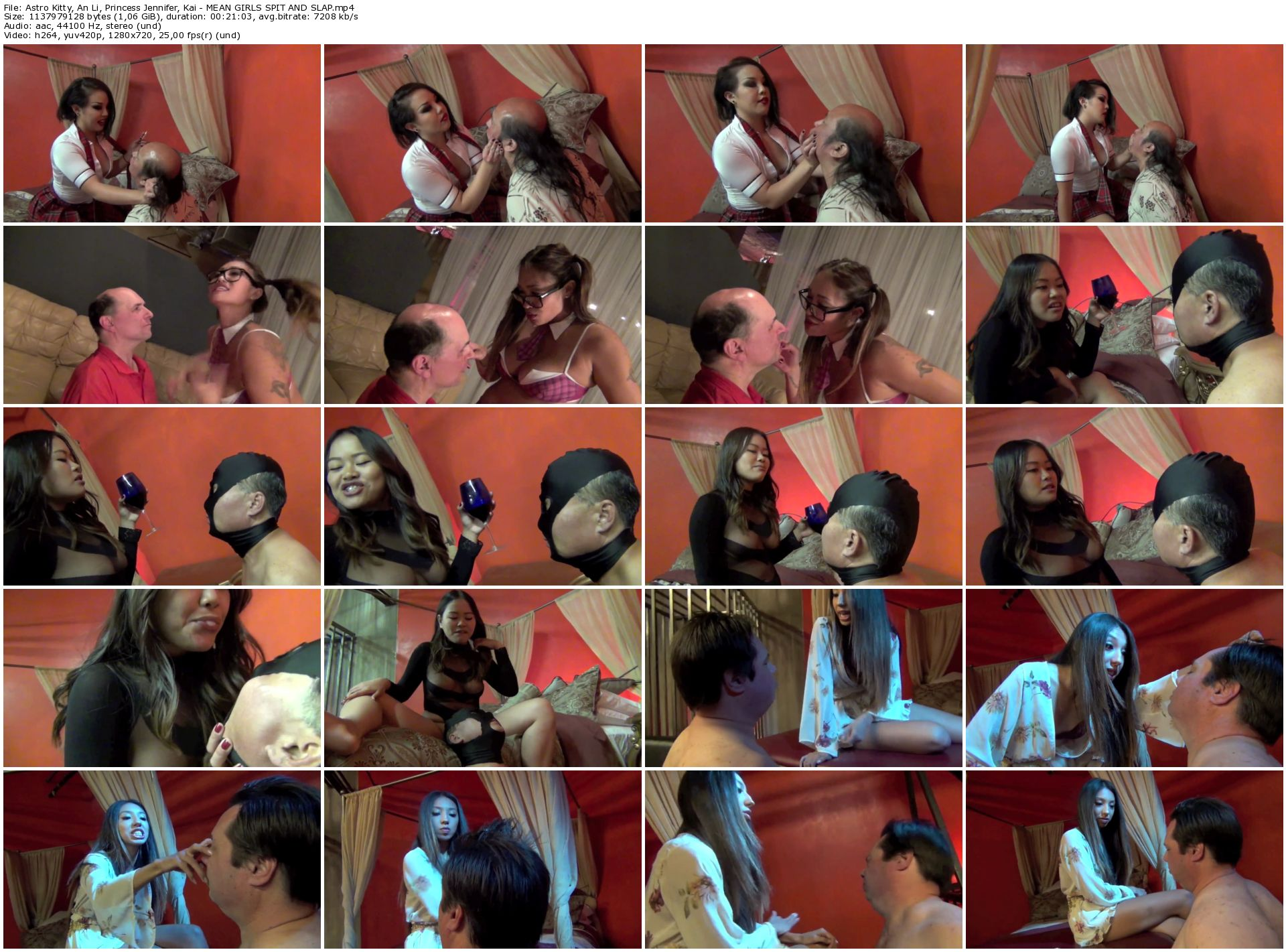 Astro Kitty_ An Li_ Princess Jennifer_ Kai - MEAN GIRLS SPIT AND SLAP_thumb,