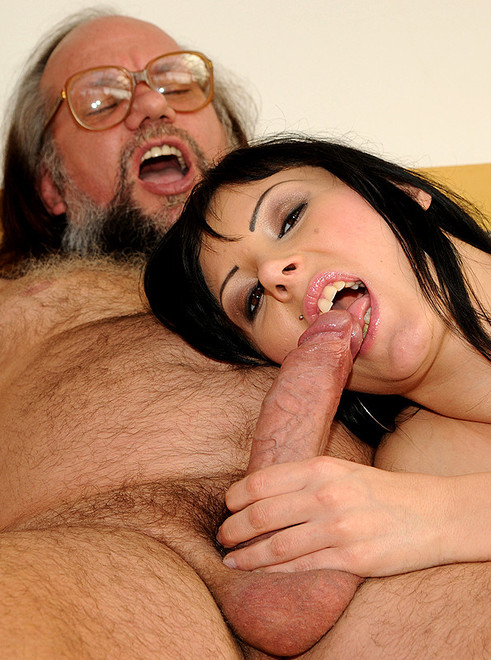 Close creampie grandpas sperm girl