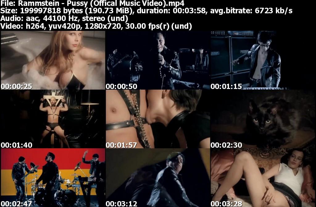 Women burned rammstein pussy music video booty