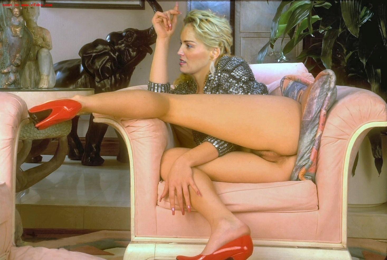Sharon stone nude porn pics leaked, xxx sex photos
