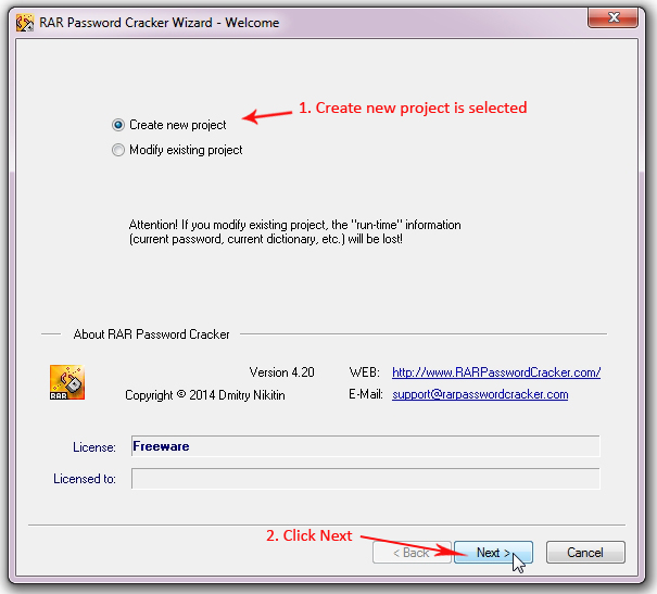 RAR Password Cracker 1,