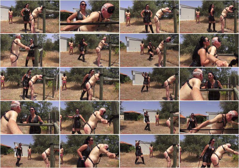 Mistress Ezada Sinn – Whipping punishment under the hot sun